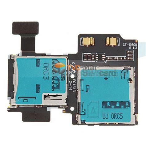 Sim Memory S4 Original sim card tray memory card holder flex cable parts for