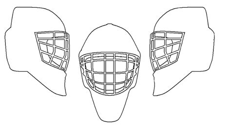 pics for gt hockey goalie mask design template