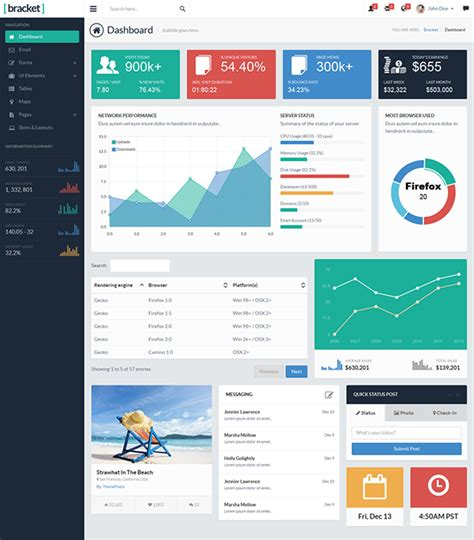 bootstrap admin layout exle bracket responsive bootstrap 3 admin template on behance