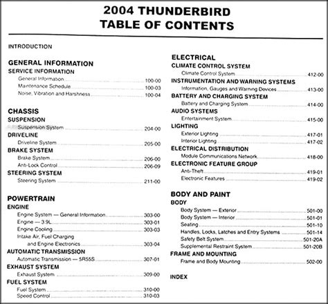 auto repair manual online 1992 ford thunderbird transmission control service manual pdf 2004 ford thunderbird transmission service repair manuals 2004 ford