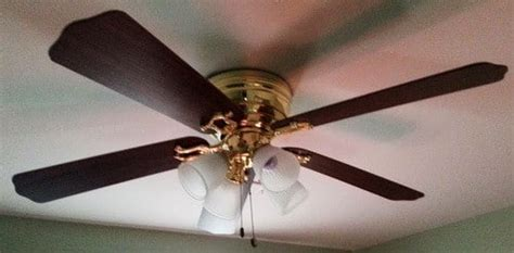 Painting Ceiling Fan by How To Modernize An Outdated Ceiling Fan Fast Cheap Diy