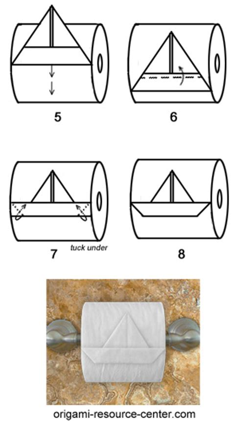 How To Make A Paper Toilet - toilet paper origami boat