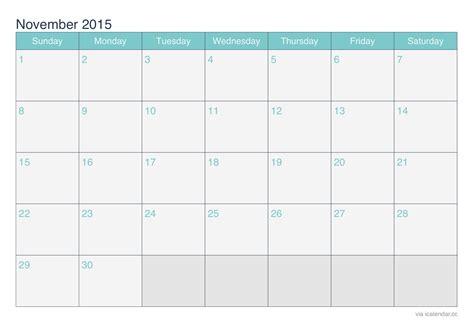 november  printable calendar icalendarsnet