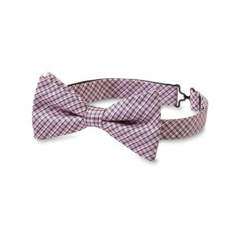 s clip on bow tie mini plaid sears