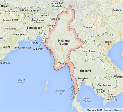 myanmar on world map map of myanmar world easy guides