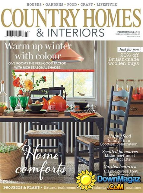 country home and interiors magazine country homes interiors magazine february 2014