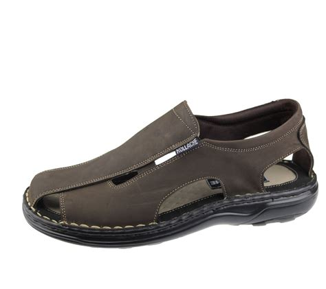 wide fit shoes mens slip on sandals casual fashion casual walking