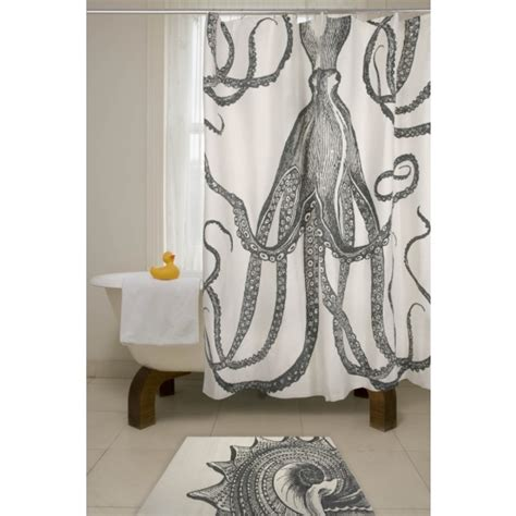 octopus shower curtain anthropologie thomaspauloctopusshowercurtain pillows and peonies