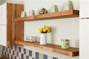 kitchen shelves uk how to install floating shelves in oak kitchens solid