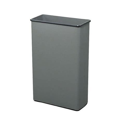tall trash can safco tall rectangular wastebasket at kitchensource com
