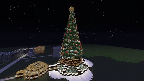 how to make a big christmas tree tree schematic minecraft project