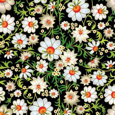 beautiful flower decor seamless pattern vectors 04
