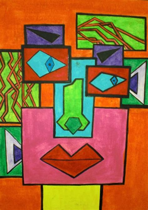 picasso geometric paintings picasso cubism school for kid