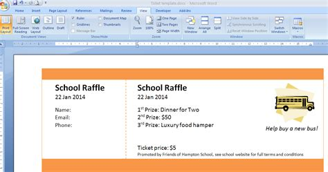 ticket creator template print numbered tickets in word raffle ticket creator