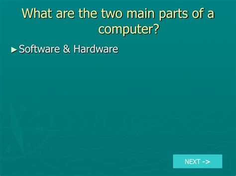 what are the two main sections of an html document ppt what are the two main parts of a computer
