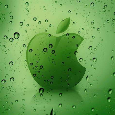 apple logo  water drops retina ipad wallpaper hd
