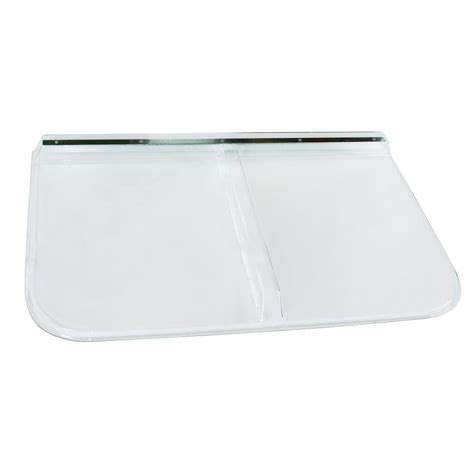 rectangular window well covers ultra protect 53 in x 37 in rectangular clear