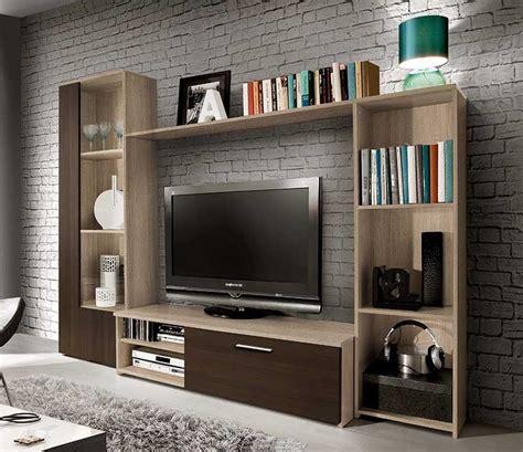 mueble tv varim muebles de mueble de sal 243 n de 220 cms en color roble combinando con