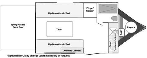 cargo trailer conversion floor plans toy hauler floorplans custom and standard models from