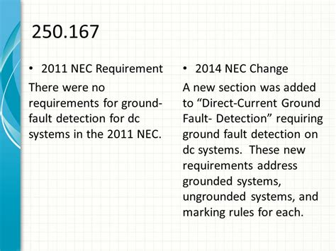 nec section 250 2014 nec code changes class part iv ppt download