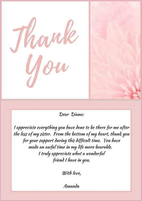 appreciation letter after funeral thank you letter to coworkers for condolences docoments