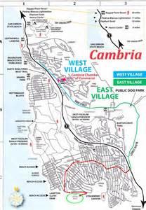 cambria california map map of cambria cambria culture