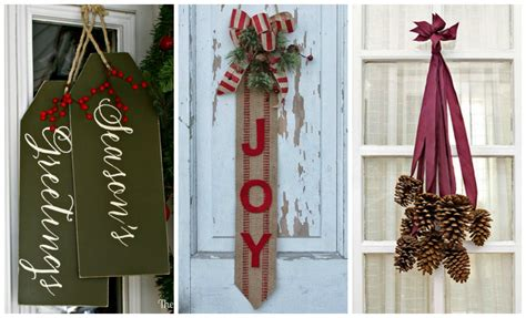 14 diy christmas door decorations holiday door