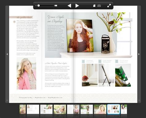 create a senior magazine with two of our top products