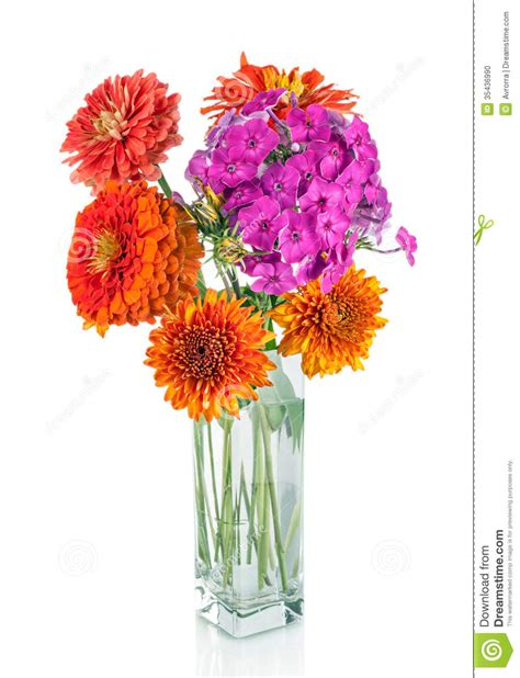 Colorful Flower Vase by Colorful Flower Bouquet Arrangement In Vase Isolated Stock