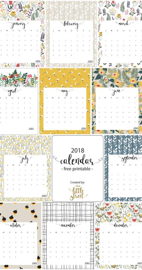 calendario a o 2016 blank calendar design 2018 2018 calendar free printable this little street
