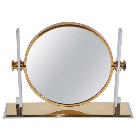 vintage table top mirror large vintage table top vanity mirror by karl springer at