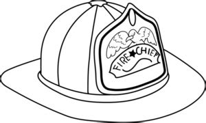 fireman hat clipart image fireman hat coloring page