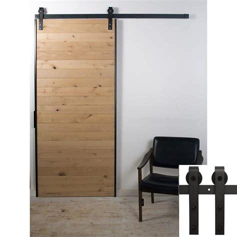 2019 antique black wooden single sliding barn closet door
