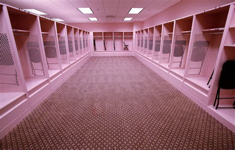 iowa pink locker room hlas putting a different color on kinnick s pink locker room the gazette