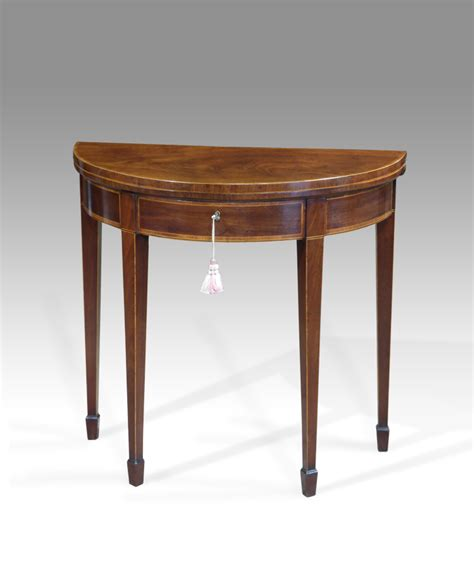 Small Card Table by Antique Card Table Georgian Demi Lune Table Small Semi