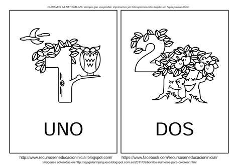dibujos para colorear pdf recursos en educaci 211 n preescolar tarjetas con n 250 meros del