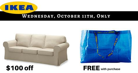 Ikea Sofa Deals by Ikea 1 Day Only Deal Free Reusable Bag 100 Ektorp