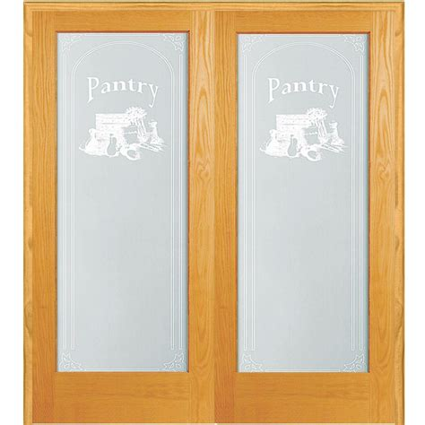 Pantry Doors Home Depot by 61 5 In X 81 75 In Pantry Decorative Glass 1 Lite