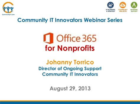 Office 365 For Nonprofits Community It Innovators Office 365 For Nonprofits