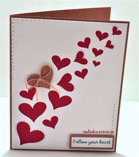 Handmade Simple Cards - easy handmade valentine s day card happy valentine s day