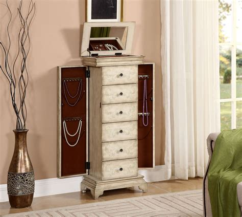distressed jewelry armoire gilston distressed ivory jewelry armoire 91793 coast to
