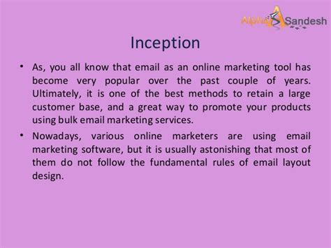 email layout tips 5 html email layout tips for effective bulk email marketing