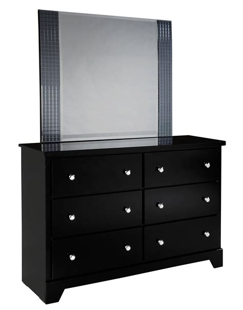black chest of drawers with mirror furniture dark wooden dresser with drawer storage using