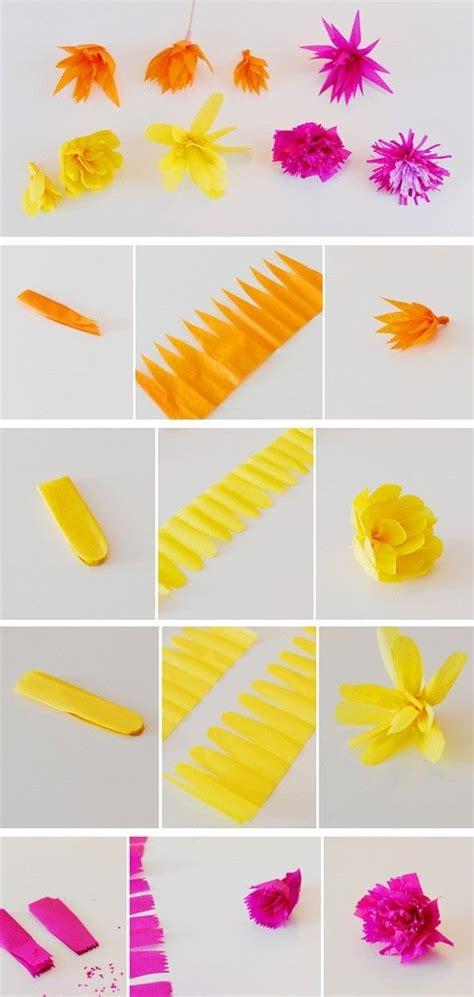 How To Make Different Types Of Paper Flowers - les 17 meilleures id 233 es de la cat 233 gorie fleurs en papier