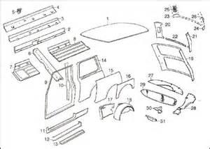 Mini Cooper Exterior Parts Diagram Side Rear