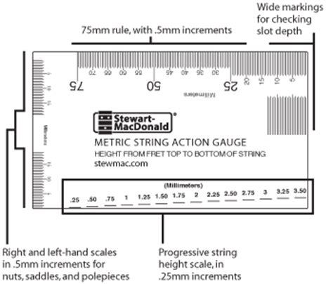 printable guitar ruler metric string action gauge stewmac com