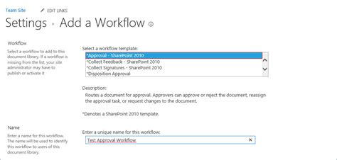 sharepoint site workflow how to create a sharepoint 2010 approval workflow at the