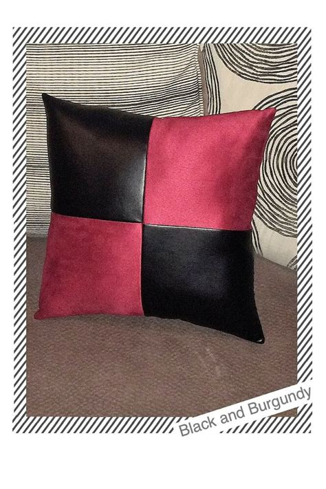 throw pillows for black leather home sofa black leather suede fabric decorative