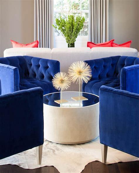 royal blue living room royal blue chairs contemporary living room martha o