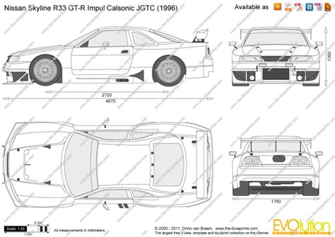 draw blueprints the blueprints com vector drawing nissan skyline r33